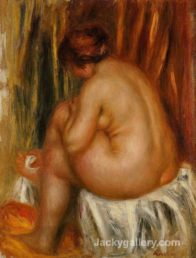 After Bathing (nude study) by Pierre Auguste Renoir paintings reproduction