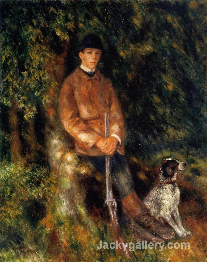 Alfred Berard and His Dog by Pierre Auguste Renoir paintings reproduction