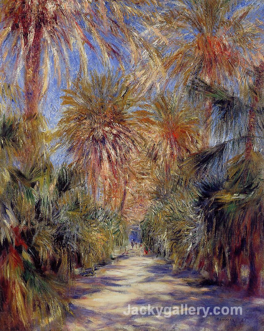 Algiers, the Garden of Essai by Pierre Auguste Renoir paintings reproduction