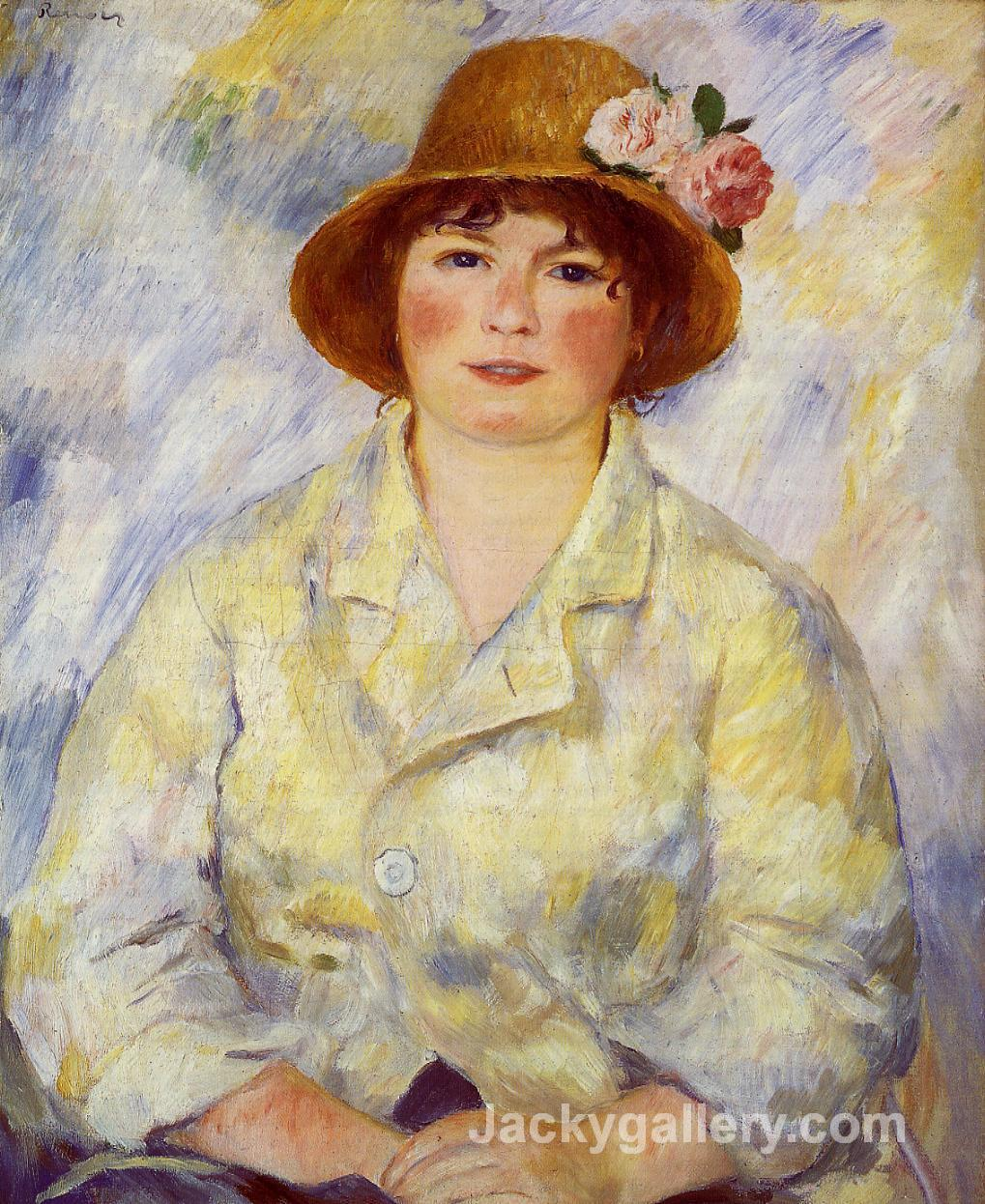 Aline Charigot (future Madame Renoir) by Pierre Auguste Renoir paintings reproduction