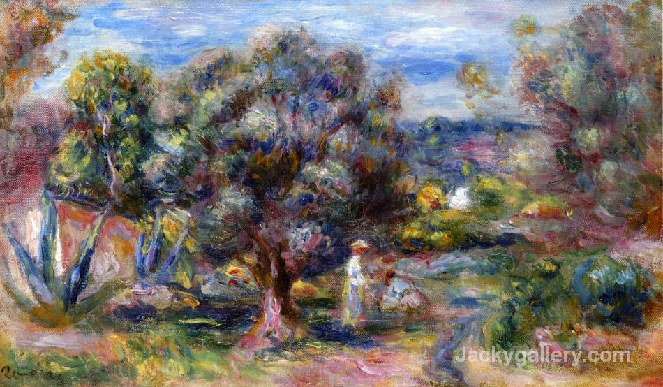 Aloe, Picking at Cagnes by Pierre Auguste Renoir paintings reproduction
