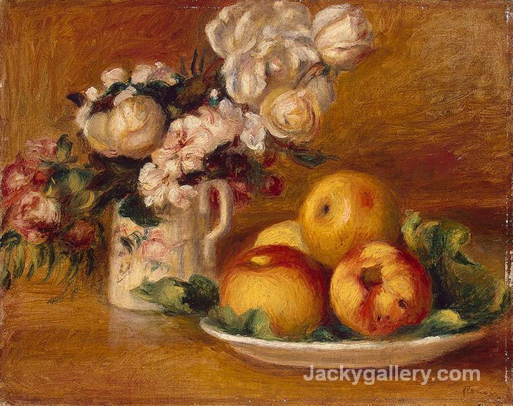 Apples and Flowers by Pierre Auguste Renoir paintings reproduction