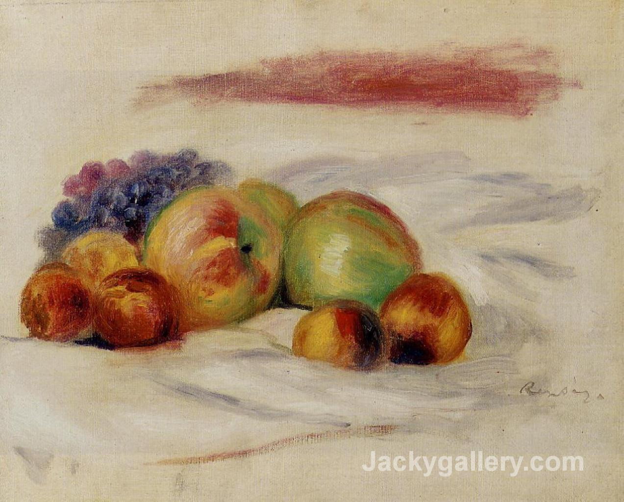 Apples and Grapes by Pierre Auguste Renoir paintings reproduction