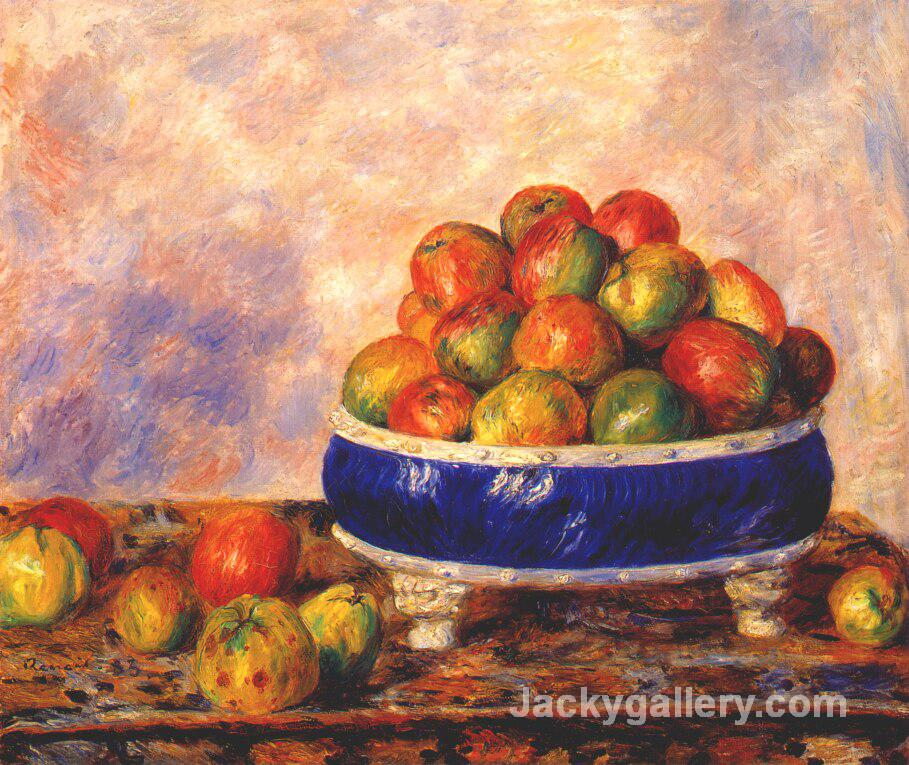 Apples in a dish by Pierre Auguste Renoir paintings reproduction