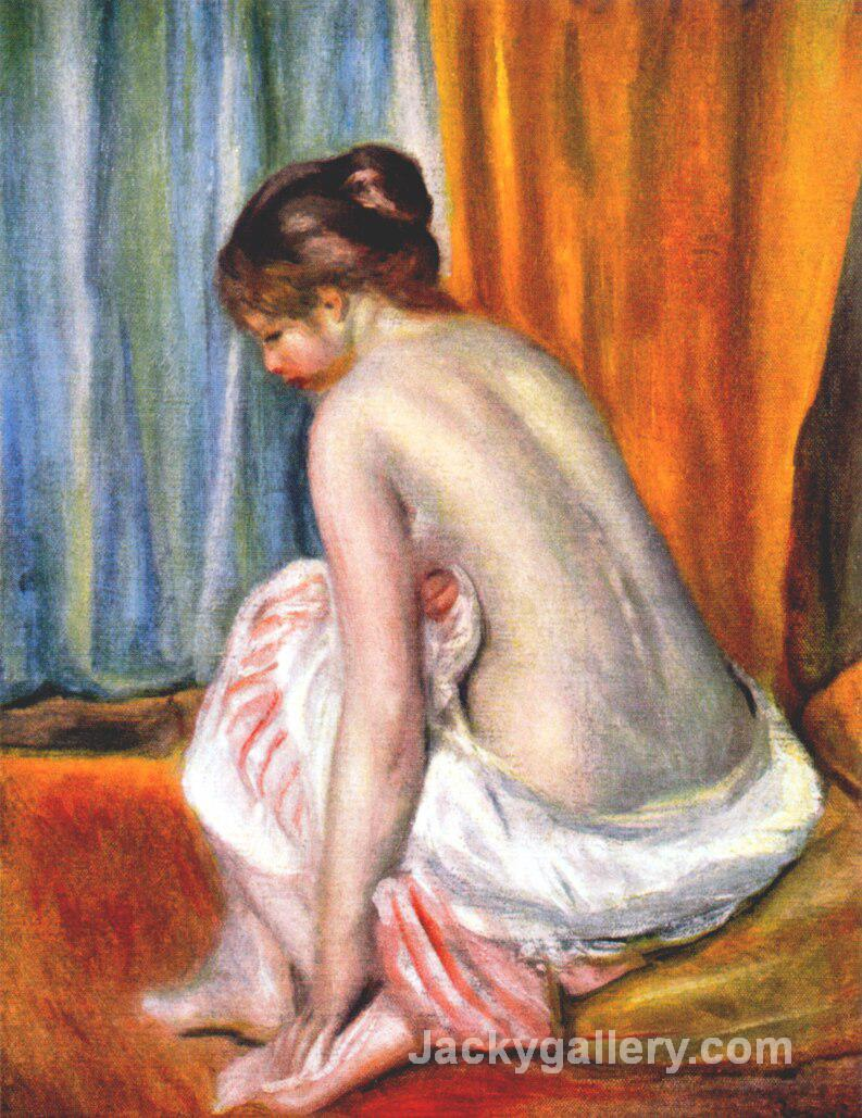 Back view of a bather by Pierre Auguste Renoir paintings reproduction