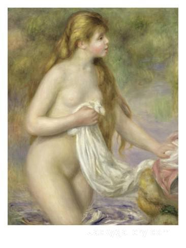 Bather with Long Hair by Pierre Auguste Renoir paintings reproduction