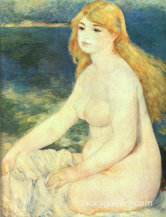 Blond Bather by Pierre Auguste Renoir paintings reproduction