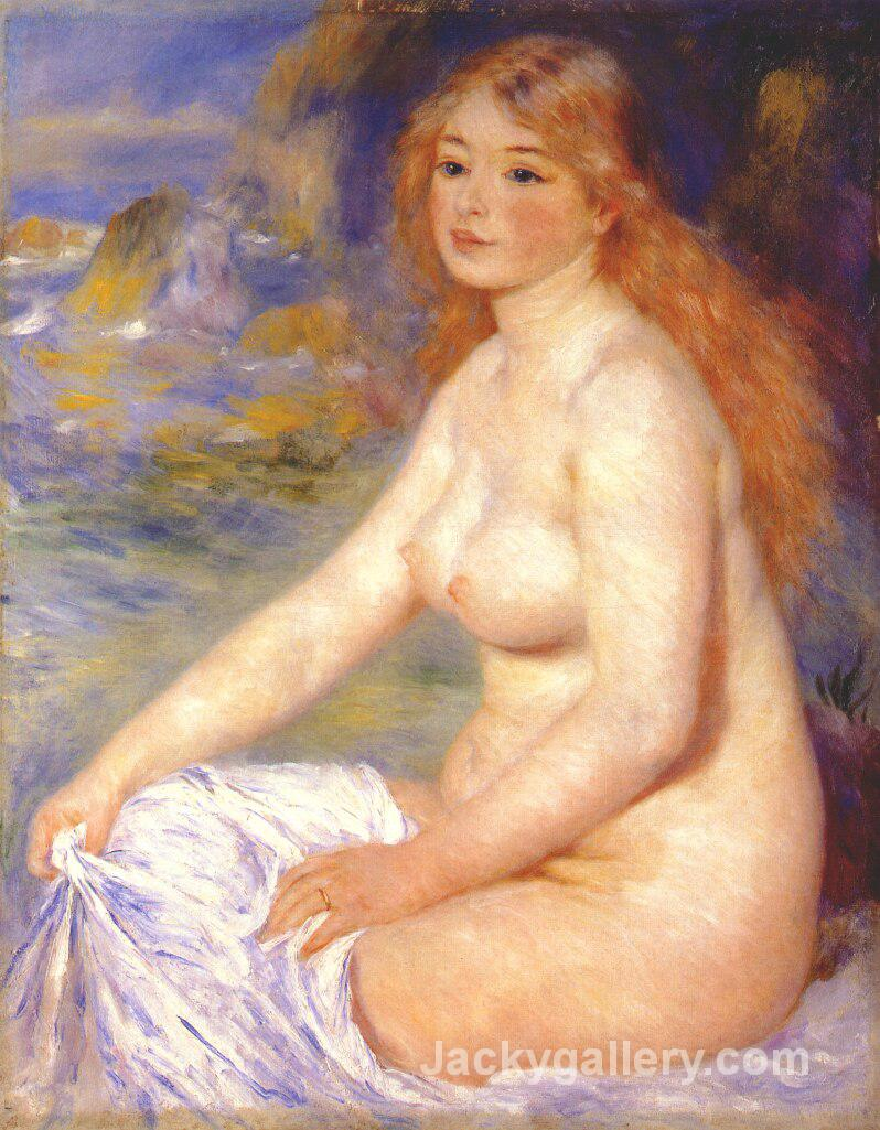 Blonde bather by Pierre Auguste Renoir paintings reproduction