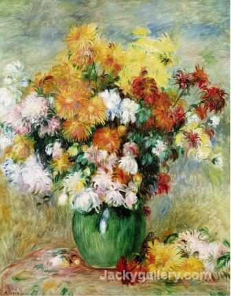 Bouquet of Chrysanthemums by Pierre Auguste Renoir paintings reproduction