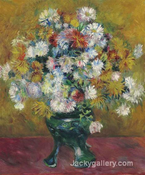 Chrysanthemes by Pierre Auguste Renoir paintings reproduction