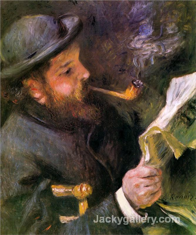Claude Monet Reading by Pierre Auguste Renoir paintings reproduction