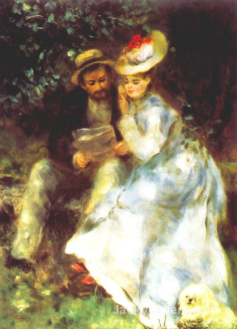 Confidences by Pierre Auguste Renoir paintings reproduction