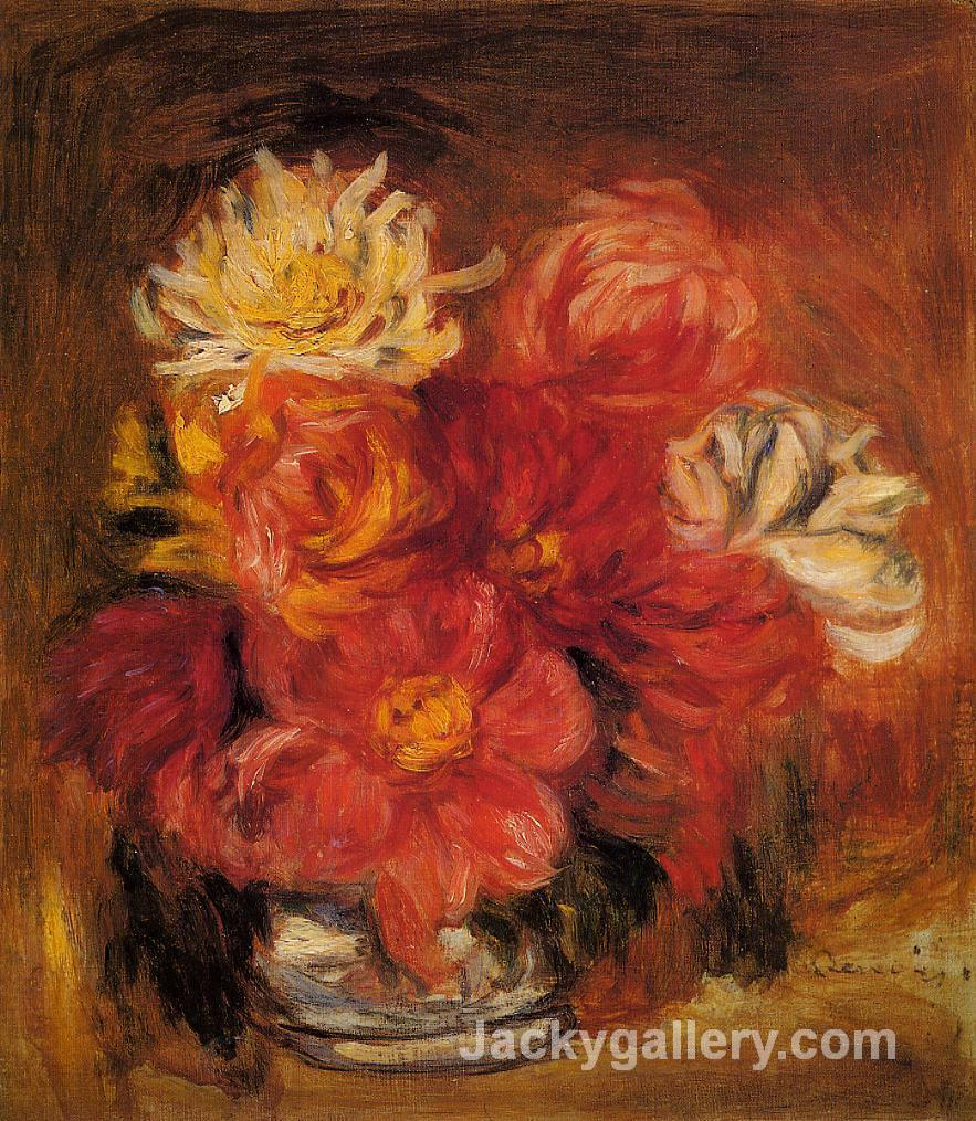 Dahlias by Pierre Auguste Renoir paintings reproduction