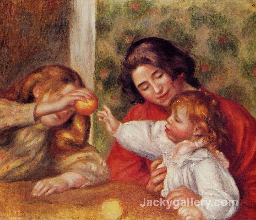 Gabrielle, Jean and a Little Girl by Pierre Auguste Renoir paintings reproduction