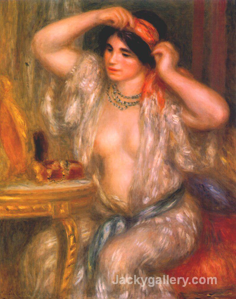 Gabrielle at the mirror by Pierre Auguste Renoir paintings reproduction