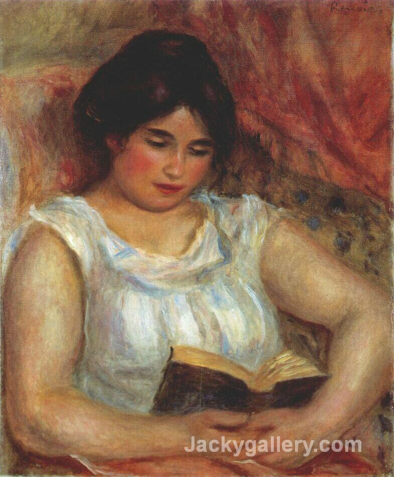 Gabrielle reading by Pierre Auguste Renoir paintings reproduction