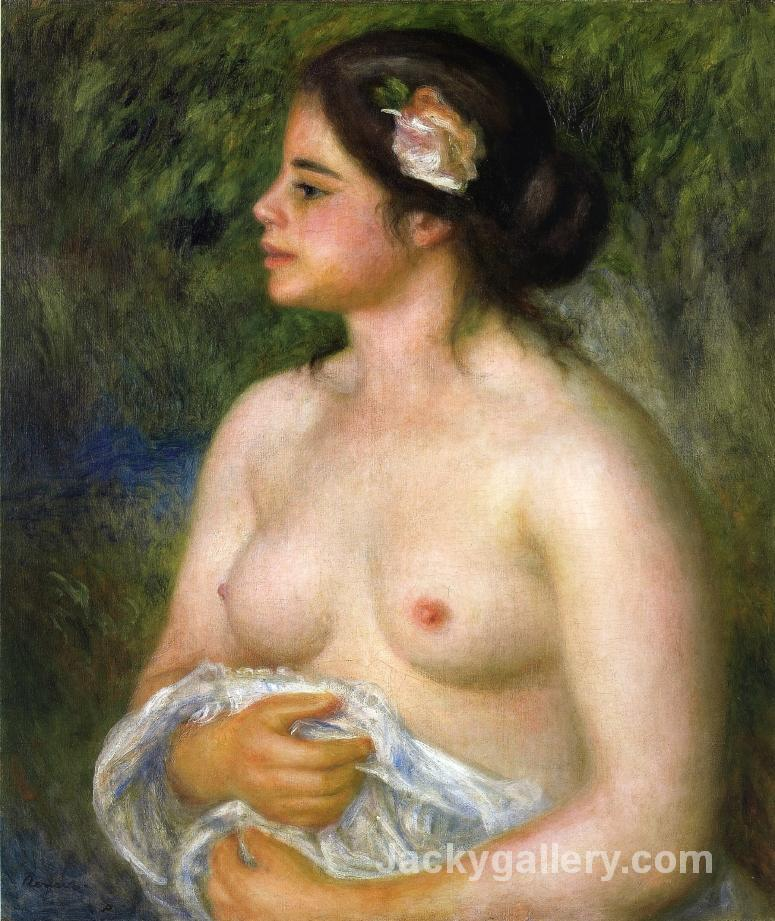 Gabrielle with a Rose (The Sicilian Woman) by Pierre Auguste Renoir paintings reproduction
