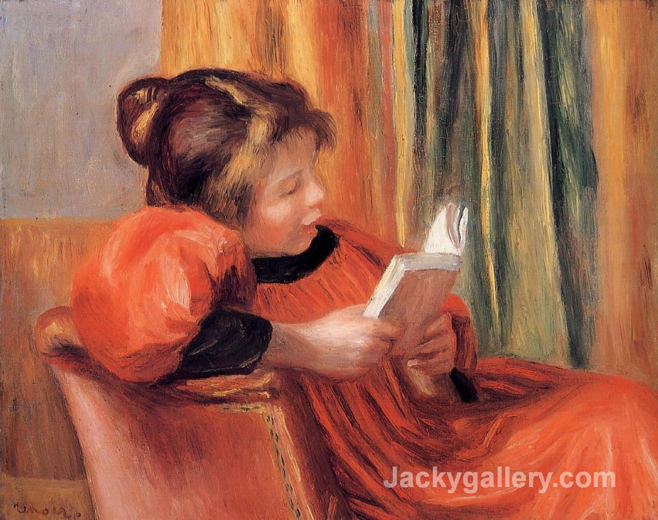 Girl Reading by Pierre Auguste Renoir paintings reproduction