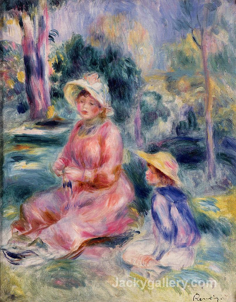 Head of a Young Woman (Red Hat) by Pierre Auguste Renoir paintings reproduction