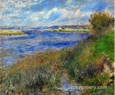 La Seine a Champrosay Banks of the Seine River at Champrosay by Pierre Auguste Renoir paintings reproduction
