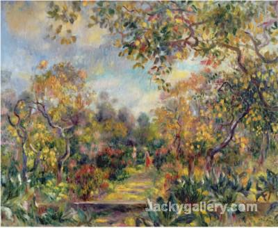 Landscape at Beaulieu c by Pierre Auguste Renoir paintings reproduction
