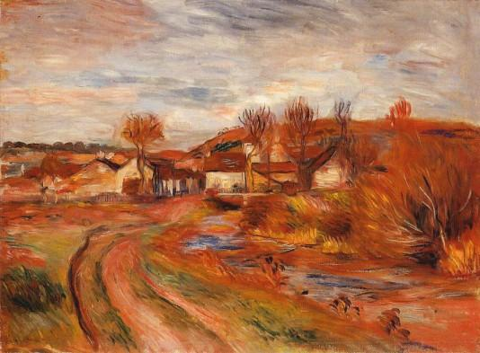 Landscape in Normandy - 1895 by Pierre Auguste Renoir