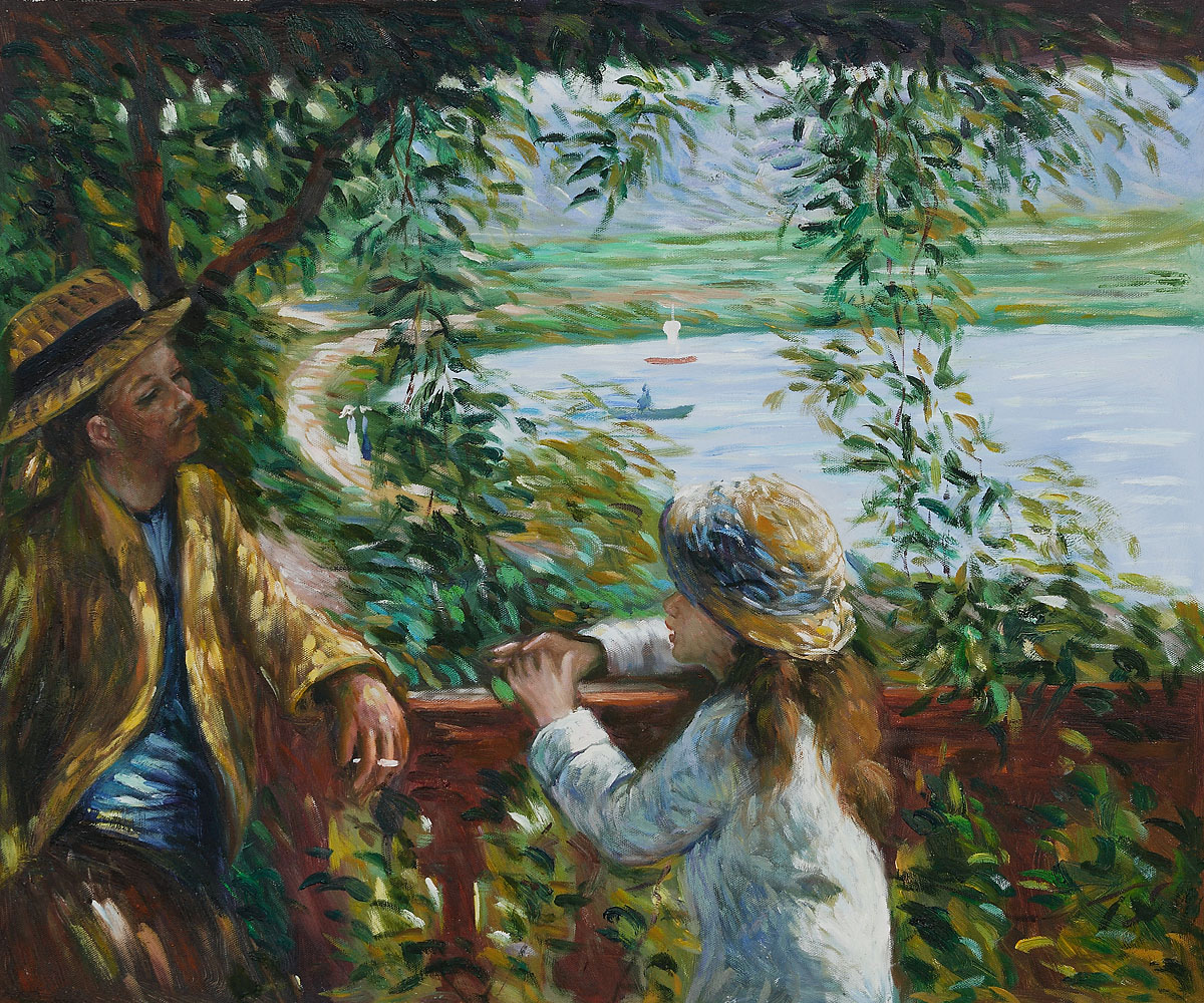 Near the Lake by Pierre Auguste Renoir