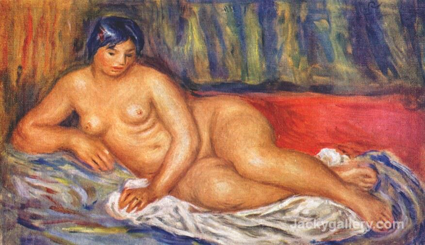 Nude girl reclining by Pierre Auguste Renoir paintings reproduction