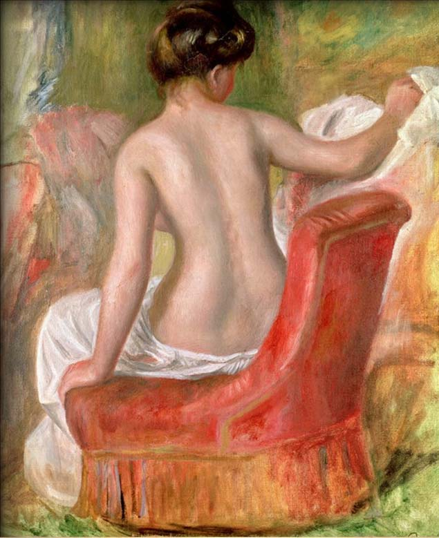 Nude in an Armchair, 1900 by Pierre Auguste Renoir