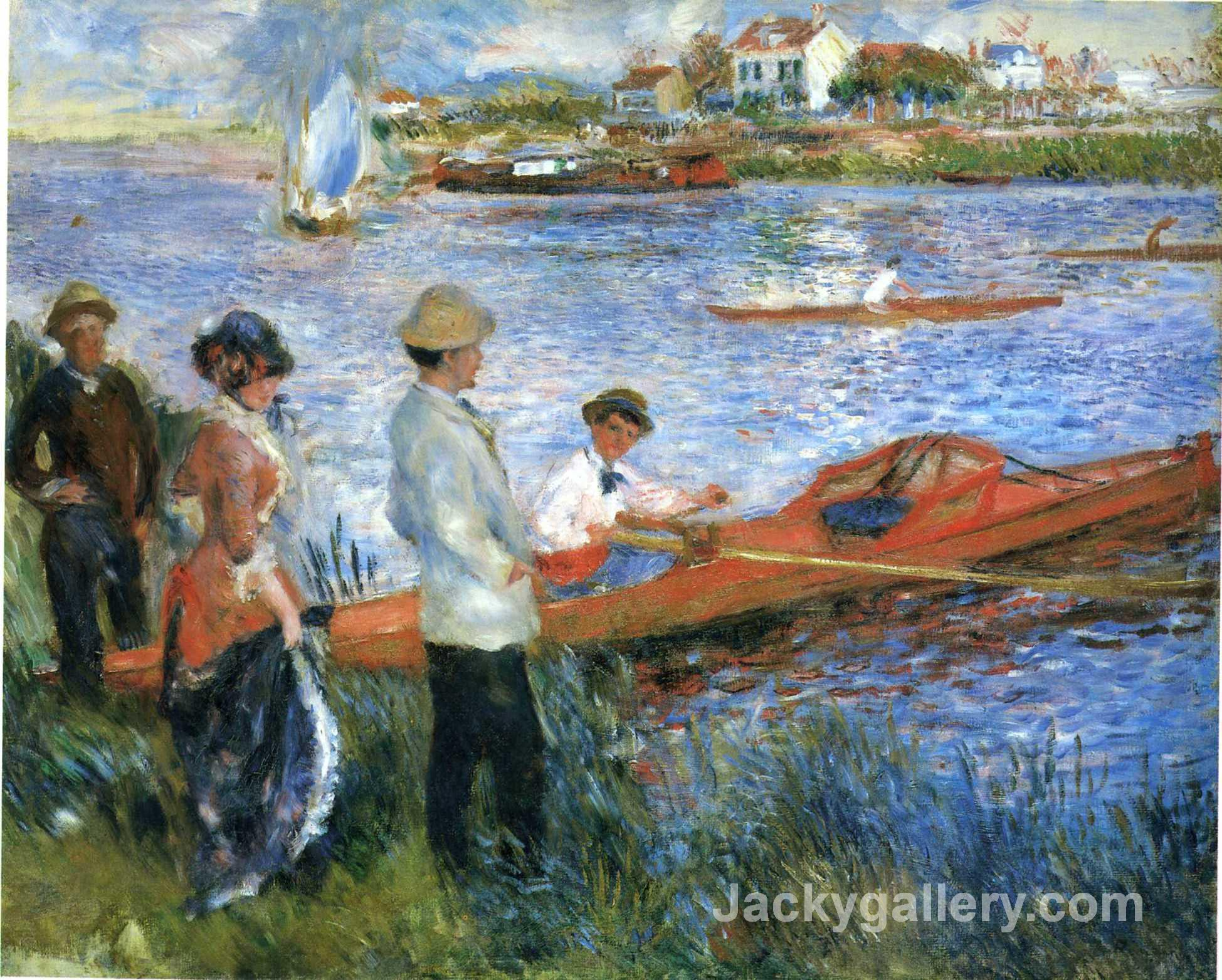 Oarsmen at Chatou by Pierre Auguste Renoir paintings reproduction