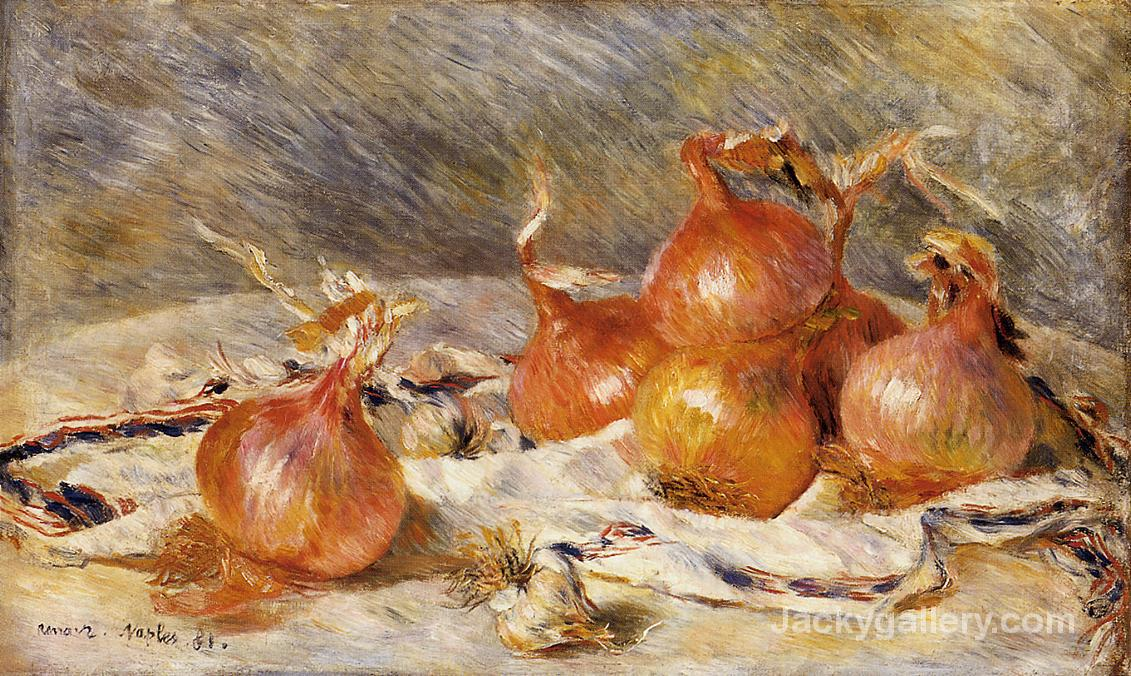 Onions by Pierre Auguste Renoir paintings reproduction