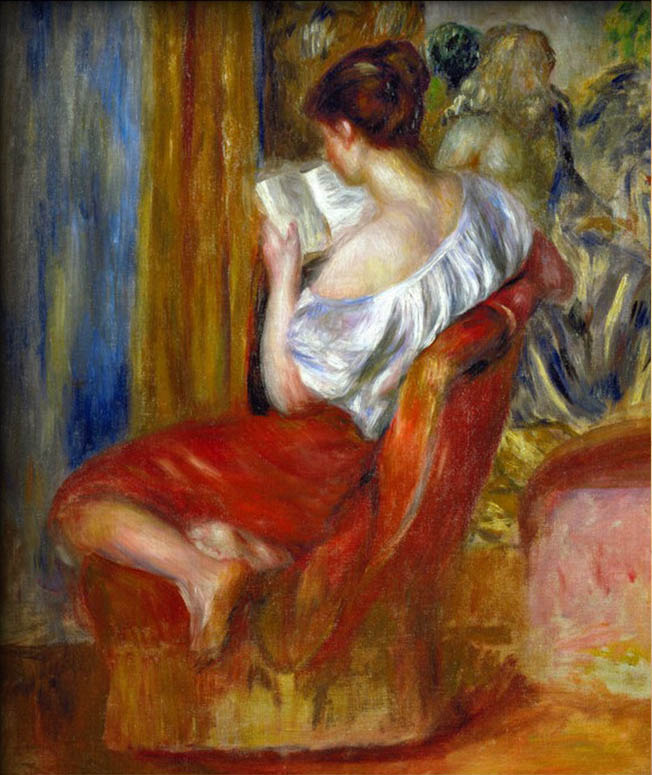 Reading Woman, circa 1900 by Pierre Auguste Renoir