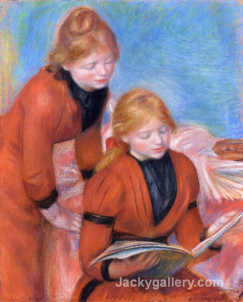 Reading by Pierre Auguste Renoir paintings reproduction