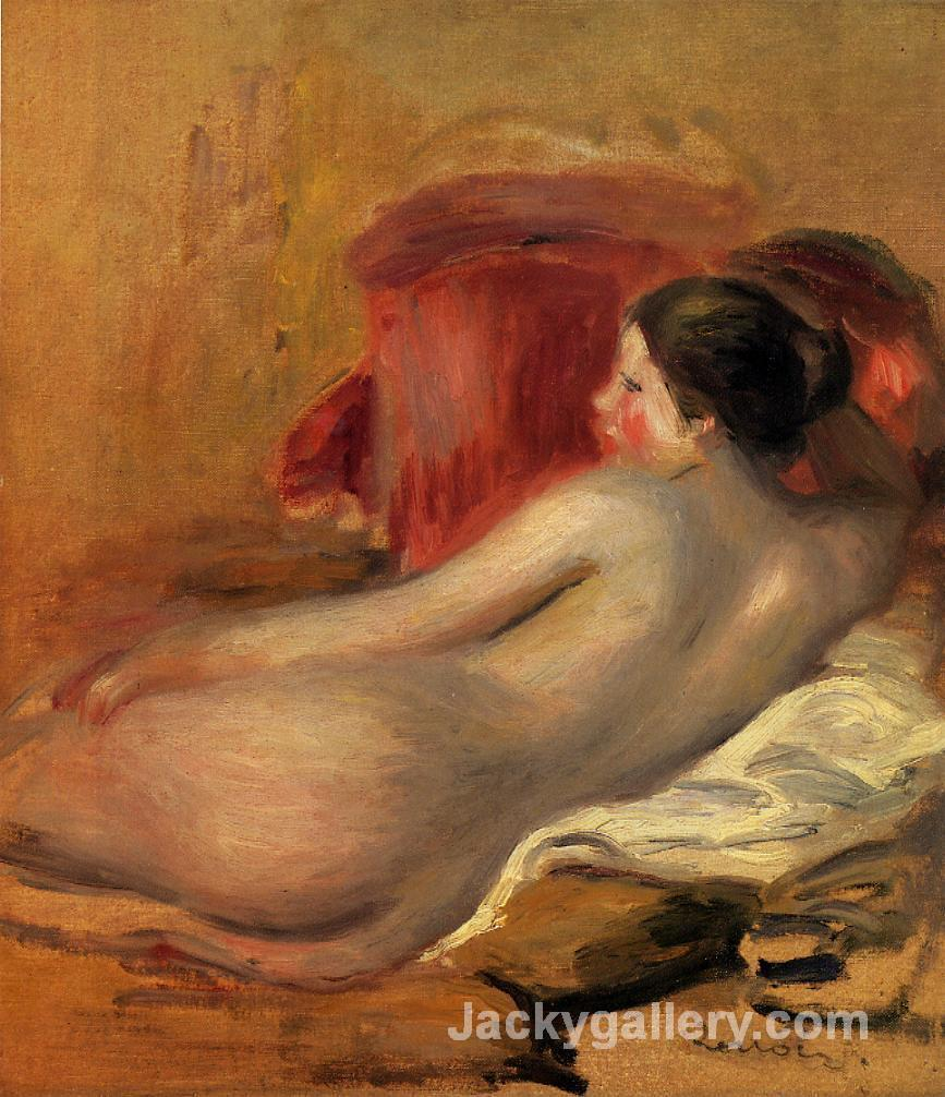 Reclining Model by Pierre Auguste Renoir paintings reproduction