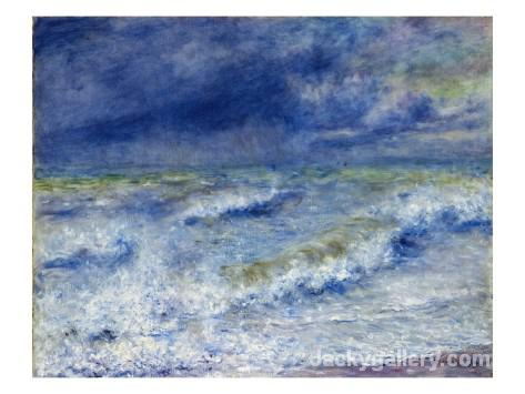 Seascape by Renoir by Pierre Auguste Renoir paintings reproduction