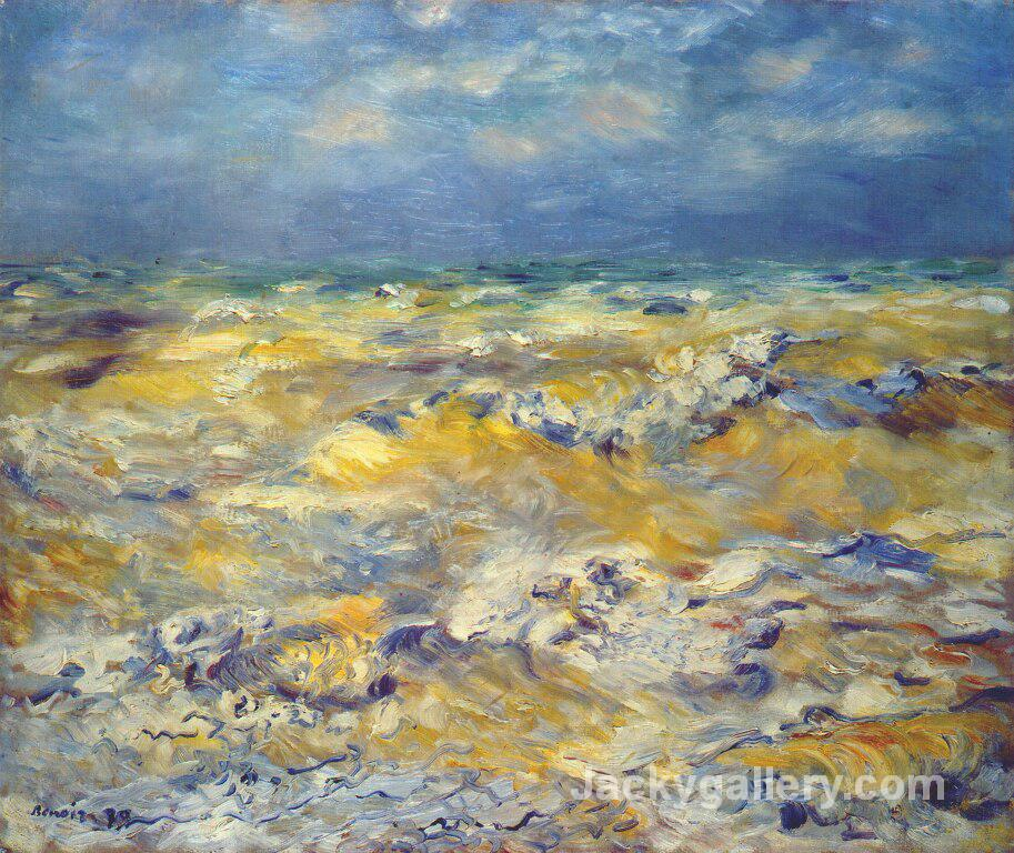 Seascape near berneval by Pierre Auguste Renoir paintings reproduction