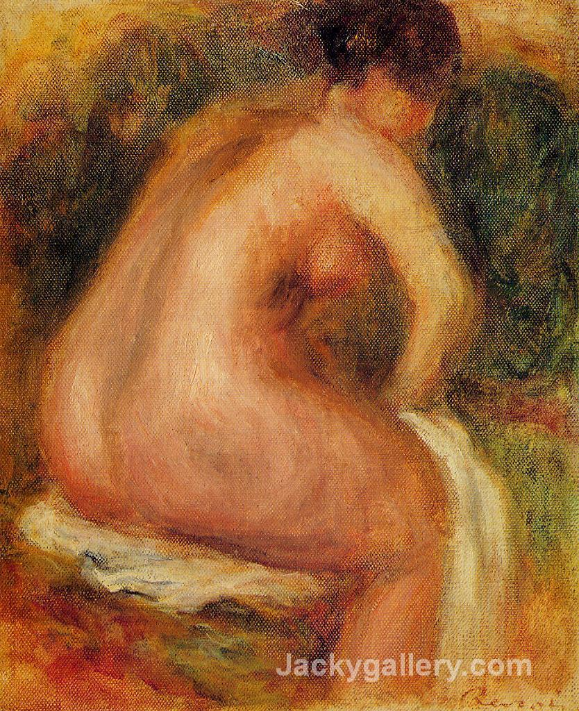 Seated Female Nude by Pierre Auguste Renoir paintings reproduction