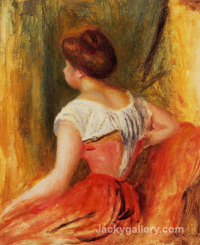 Seated Young Woman by Renoir by Pierre Auguste Renoir paintings reproduction