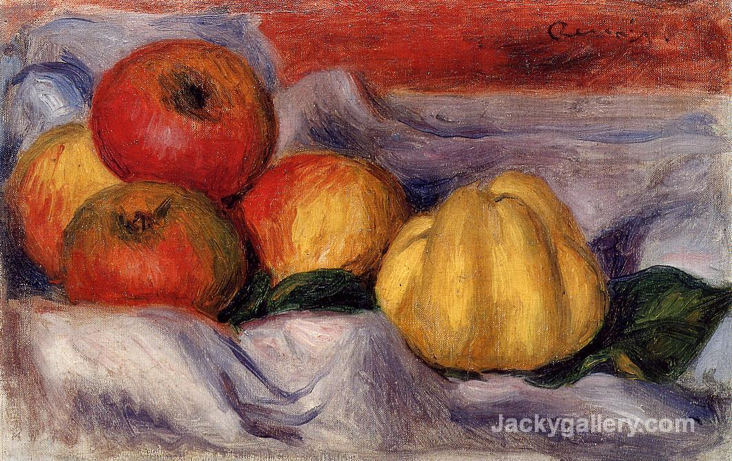 Still Life with Apples by Pierre Auguste Renoir paintings reproduction