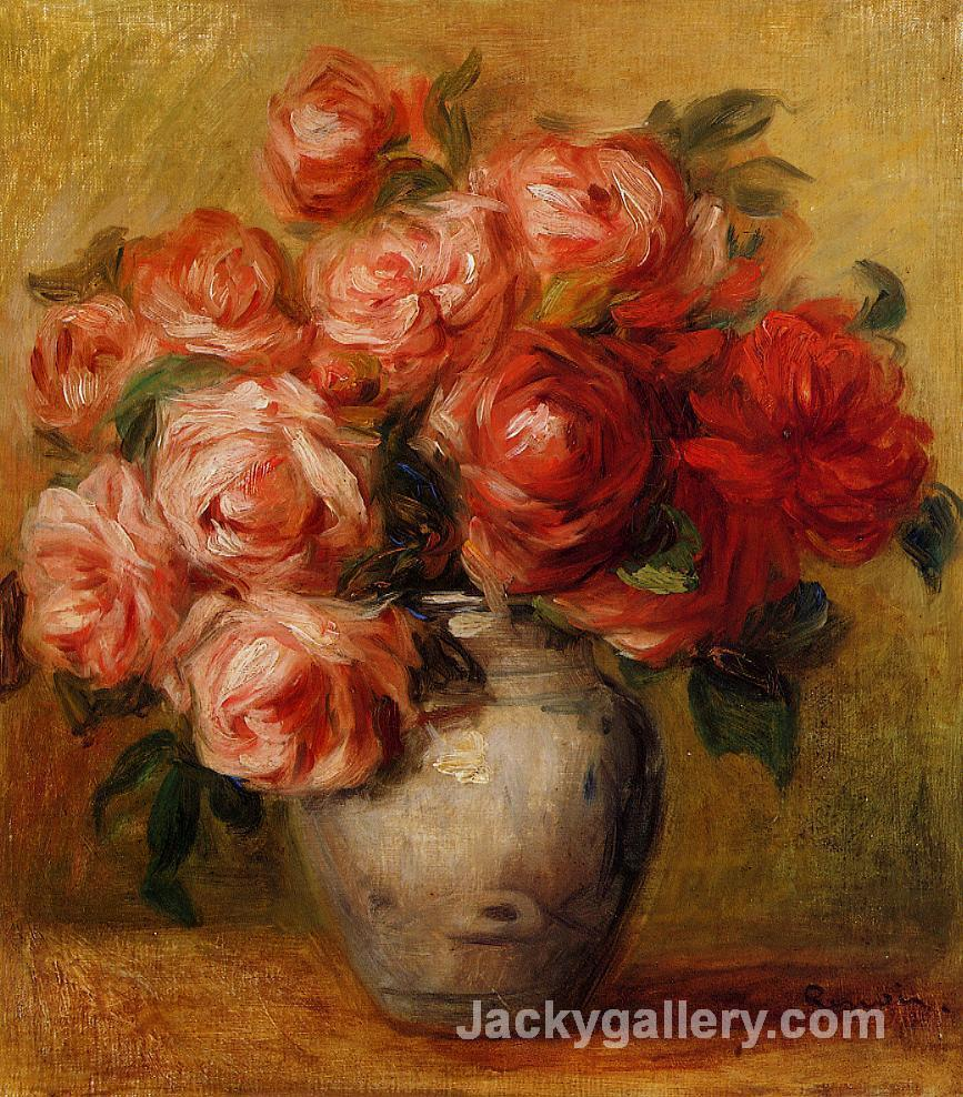 Still Life with Roses by Pierre Auguste Renoir paintings reproduction
