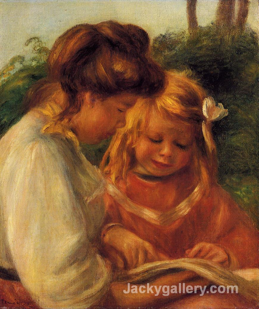 The Alphabet (Jean and Gabrielle) by Pierre Auguste Renoir paintings reproduction