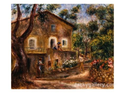 The Collette House in Cagnes by Pierre Auguste Renoir paintings reproduction