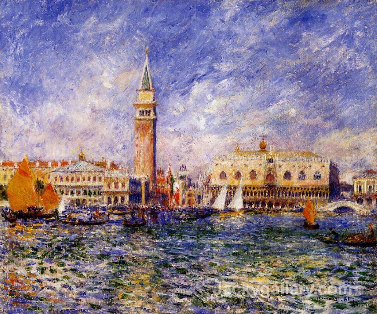 The Doges Palace by Pierre Auguste Renoir paintings reproduction
