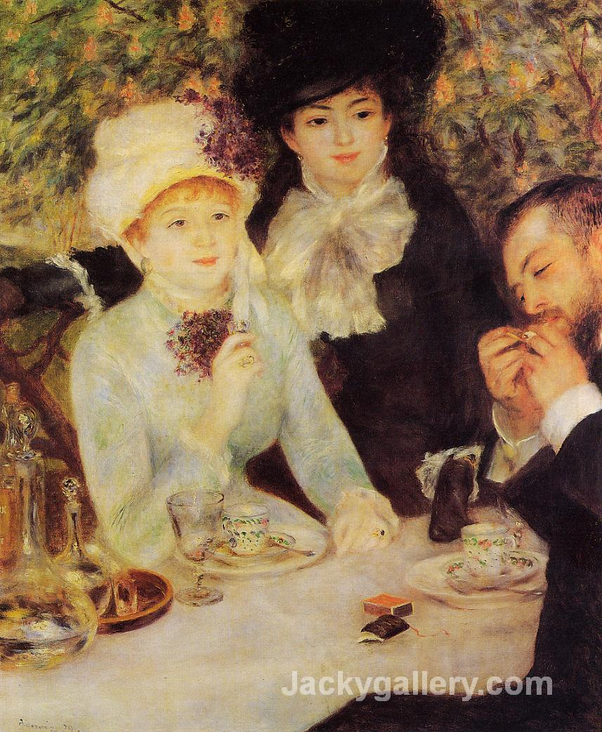 The End of Lunch by Pierre Auguste Renoir paintings reproduction