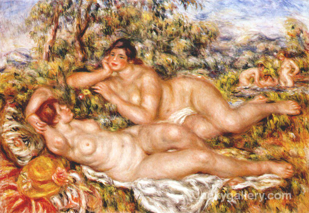 The Great Bathers (The Nymphs) by Pierre Auguste Renoir paintings reproduction