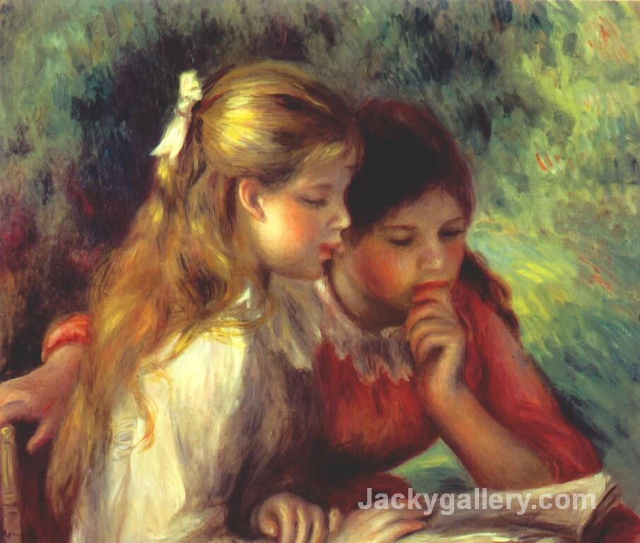 The Reading by Pierre Auguste Renoir paintings reproduction