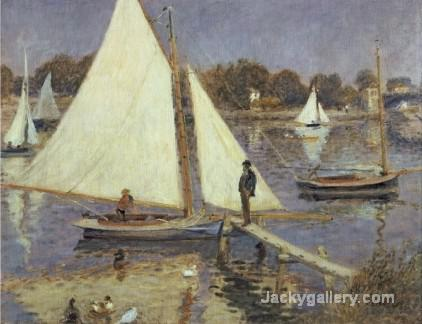 The Seine at Argenteuil by Pierre Auguste Renoir paintings reproduction