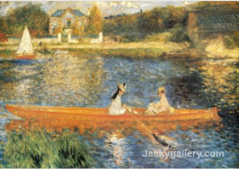 The Seine at Asnieres by Pierre Auguste Renoir paintings reproduction