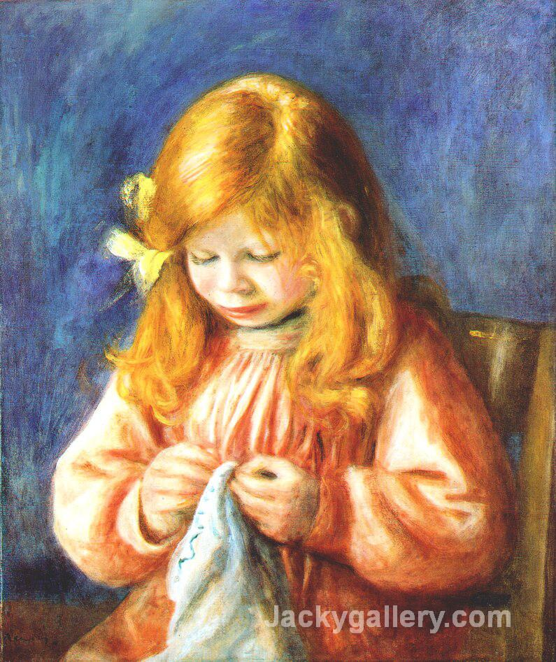 The artists son jean by Pierre Auguste Renoir paintings reproduction