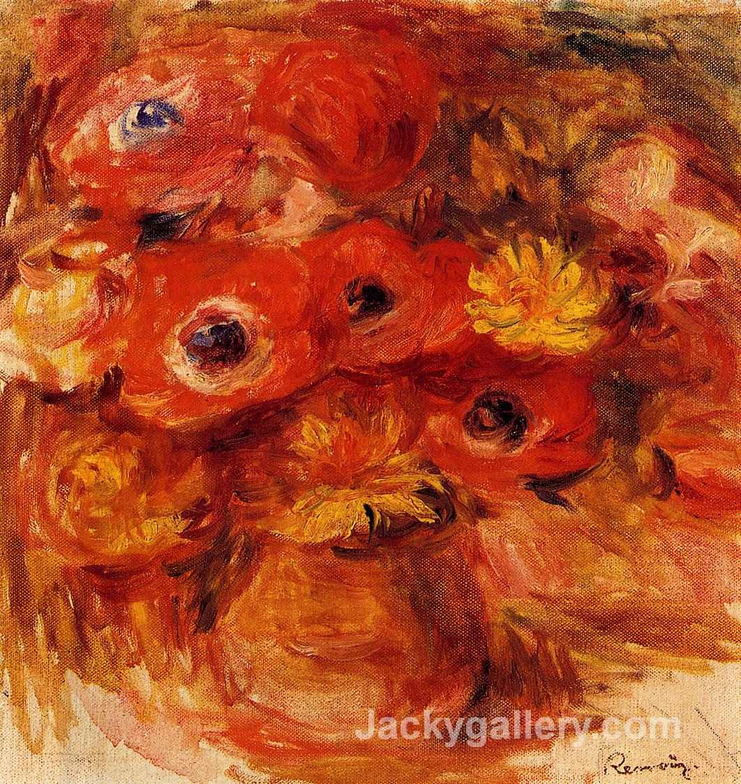 Vase of Anemones by Pierre Auguste Renoir paintings reproduction